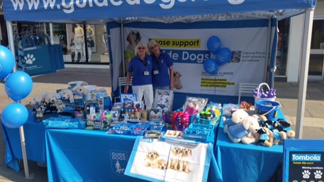 Raising money for Guide Dogs at Cleveleys Car Show