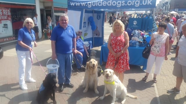 Guide Dogs fundraising at Cleveleys Car Show