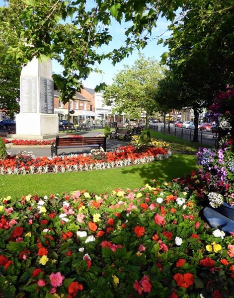 War Memorial in Lytham Memorial Garden, Remembrance Day Services