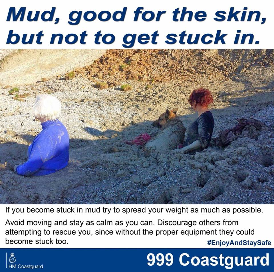 Mud rescues by HM Coastguard