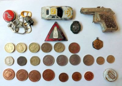 Metal detector finds on Blackpool beach