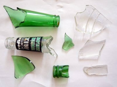 Glass removed from the beach