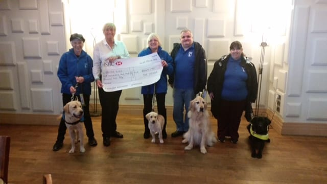 The Venue Cleveleys presenting a cheque