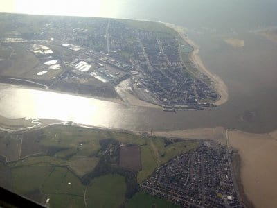 Looking across the River Wyre and Fleetwood
