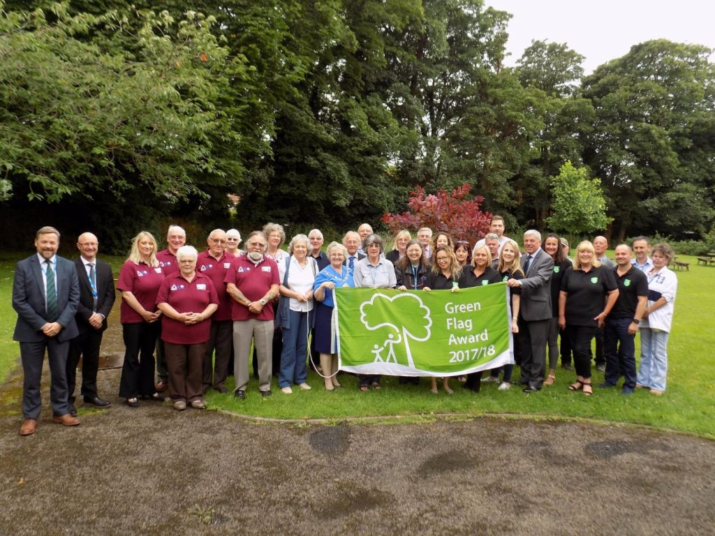 Green Flag Awards in Wyre, 2017/18