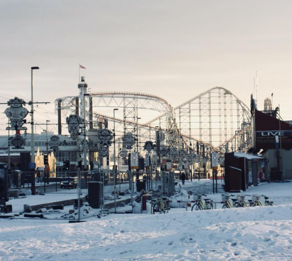 Snow at the seaside, by Sheena Ann Brown. Scroll down for more of her Blackpool photos