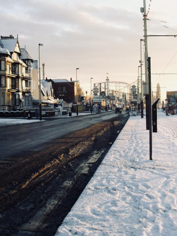 Snow at the seaside in Blackpool from Sheena-Ann Brown