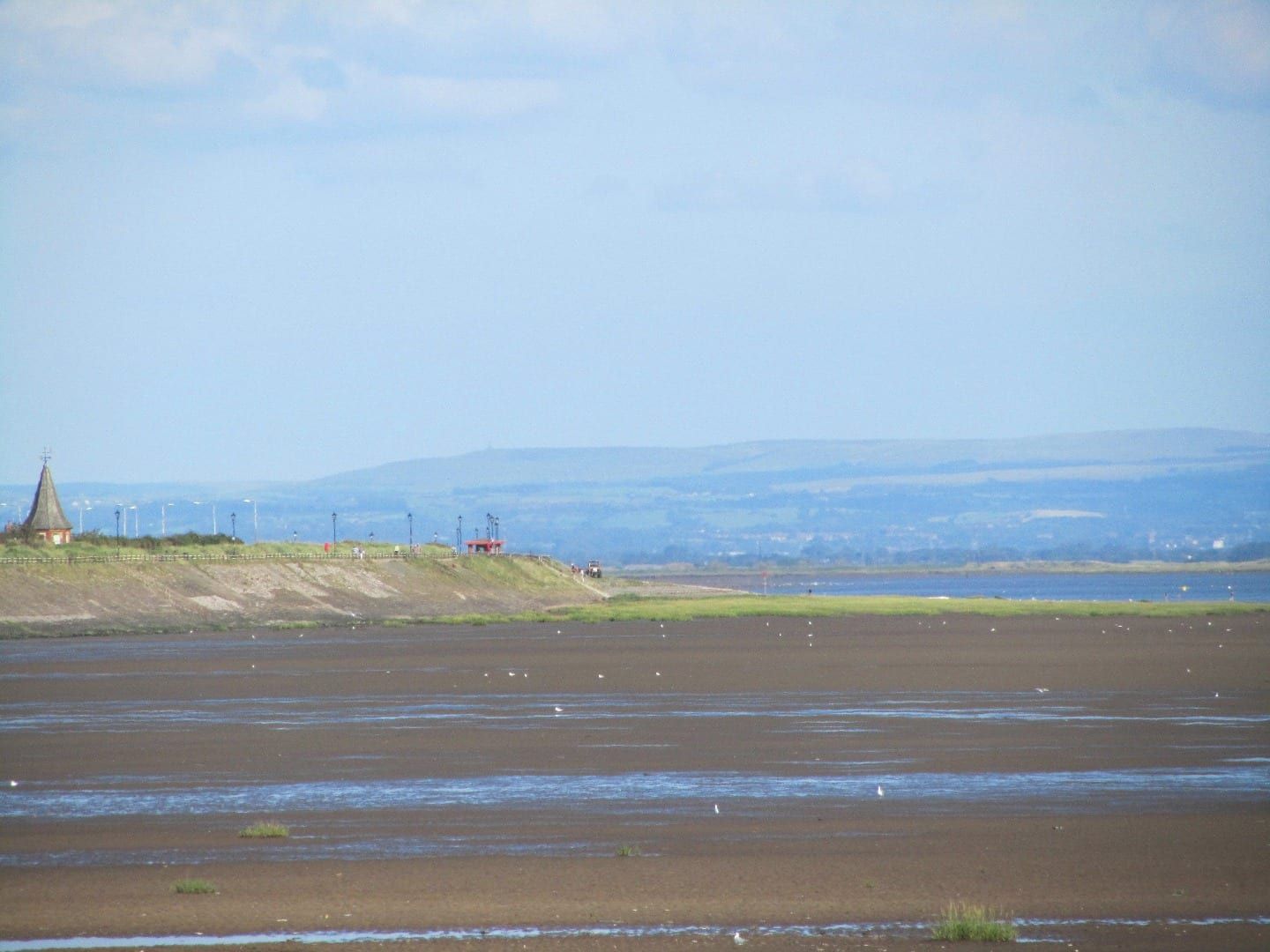 View across Granny's Bay and Church Scar at Lytham St Annes, one of the Views from the Fylde Coast