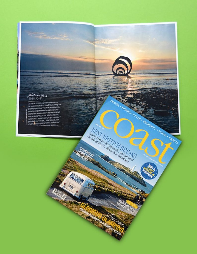 Mary's Shell, in the news in Coast magazine, April 2015
