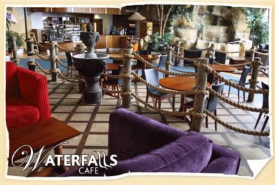 Waterfalls cafe at Sandcastle Waterpark Blackpool