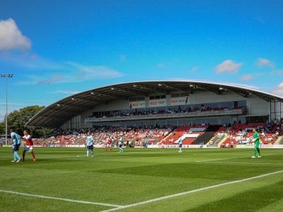 Pitch hire at Fleetwood Town