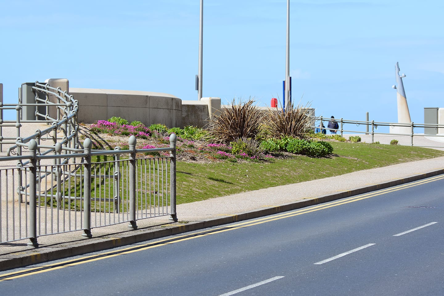 Grassed area on Cleveleys seafront
