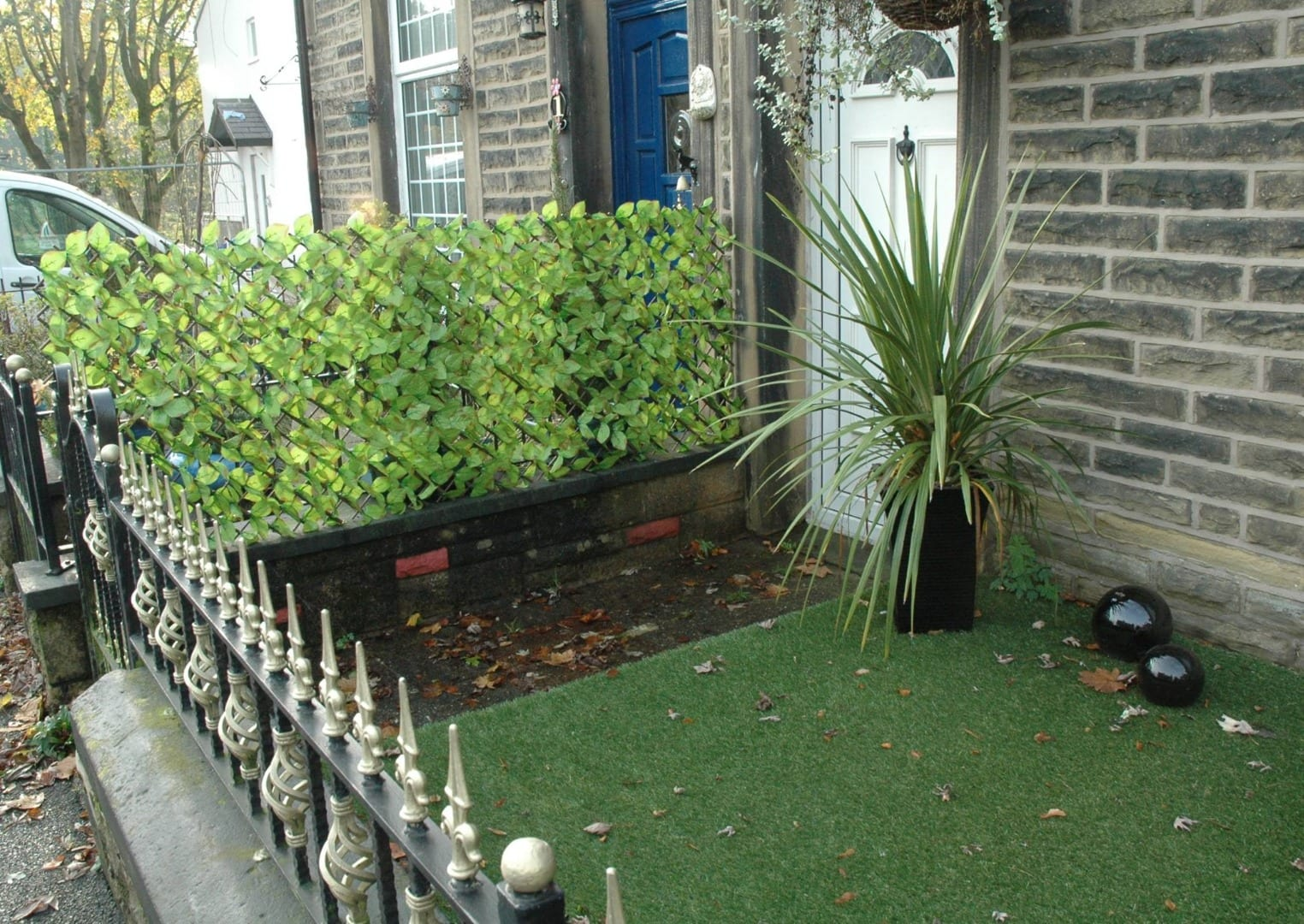 Artificial grass and hedging