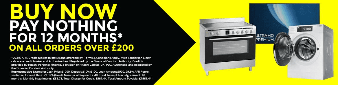 Finance available at Mike Sanderson Electricals