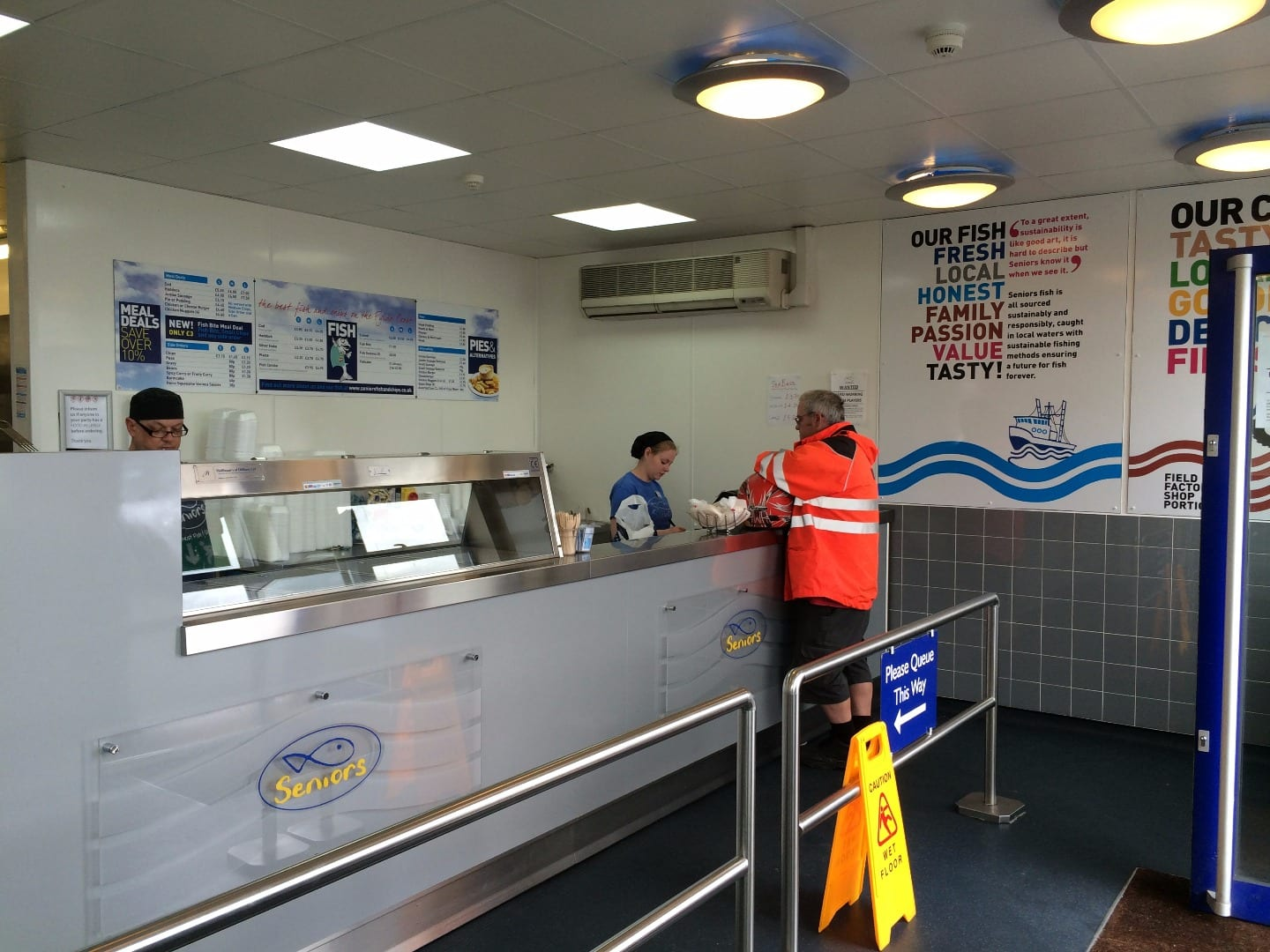 Fish and chip takeaway at Seniors Bispham