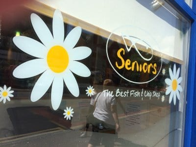 Seniors fish bar and grill at Lytham, Seniors Lytham and St Annes