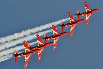 Red Arrows at Blackpool Airshow