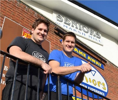 Dominic and Alastair Horabin, owners of Seniors Lytham and St Annes