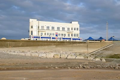 The Venue at Cleveleys close to the beach