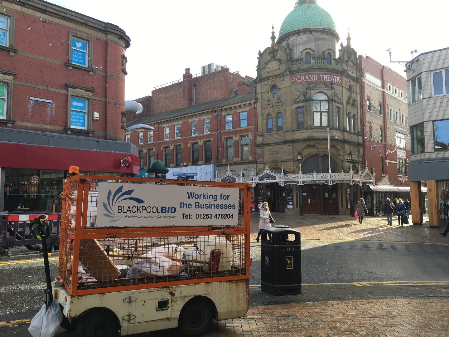 Blackpool BID Cleaning truck