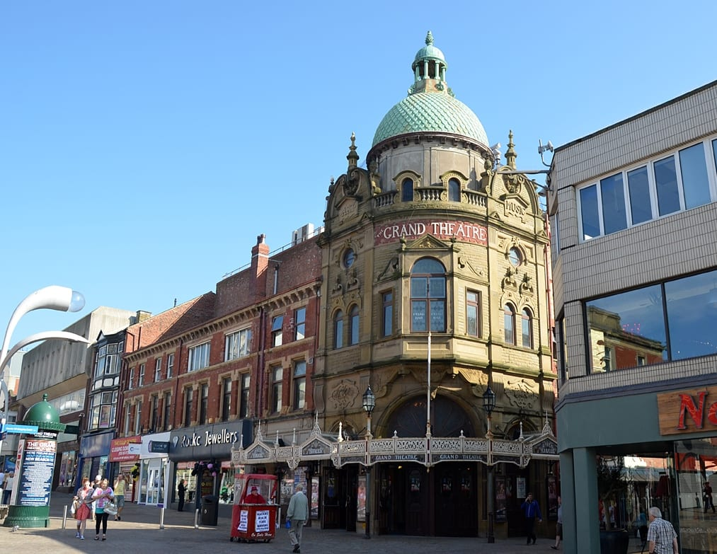 Blackpool Grand Theatre at the heart of Blackpool Town Centre