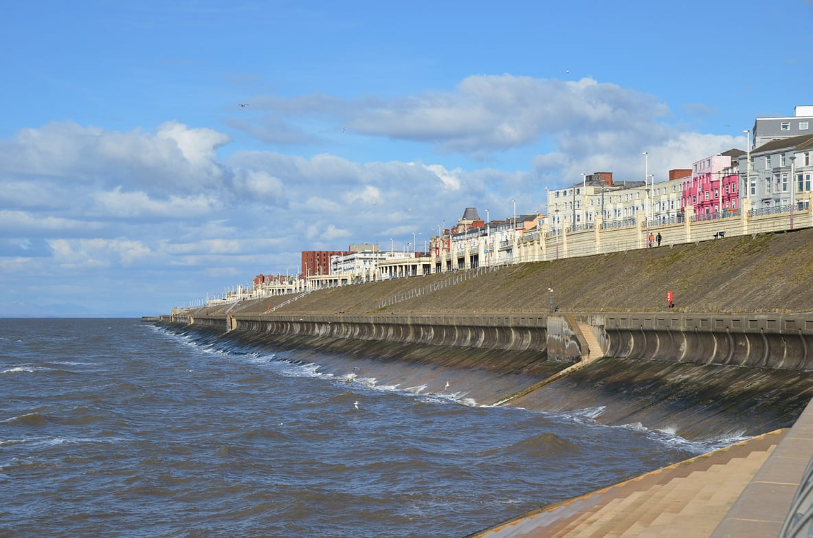Blackpool North Promenade near Gynn Square