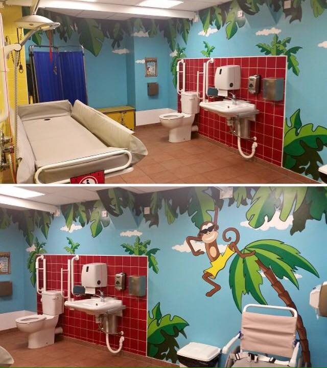 Changing Places toilet at Sandcastle Waterpark