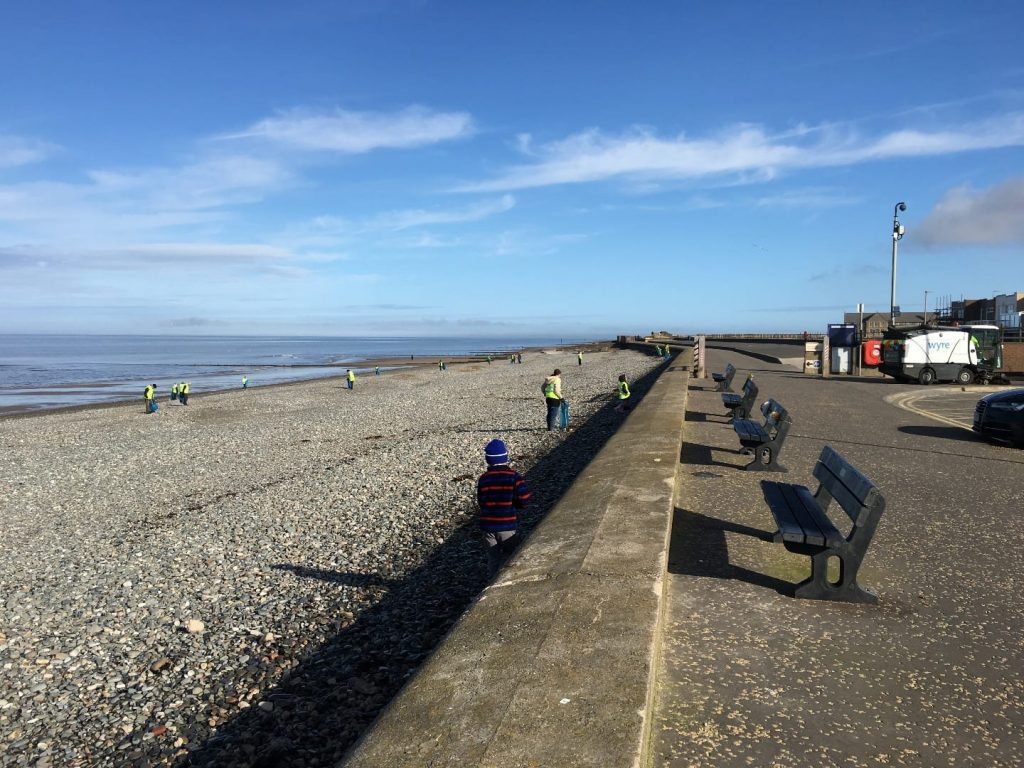 Rossall Beach at Cleveleys