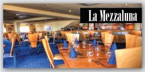 Eat out at La Mezzaluna Restaurant on Cleveleys seafront
