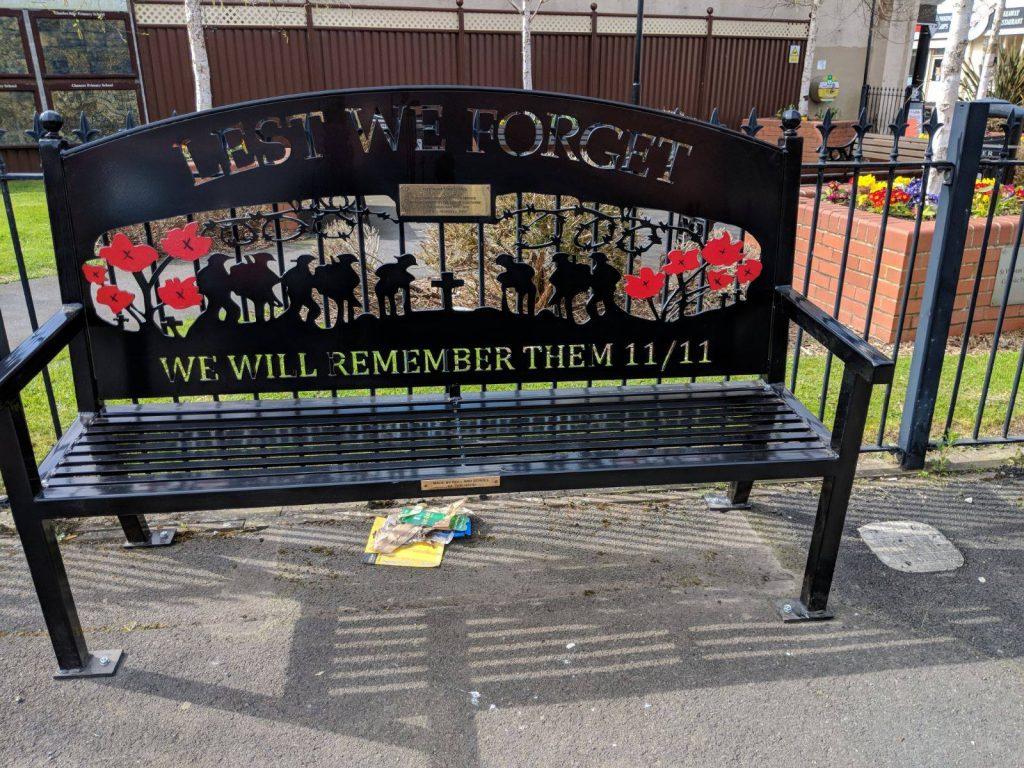 Remembrance benches from Fleetwood Town Council
