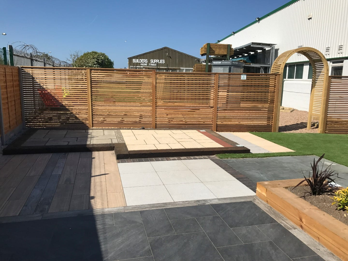 Garden display area at Builders Supplies
