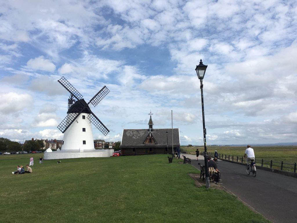Lytham Windmill at Lytham Green on the Fylde Coast Seafront