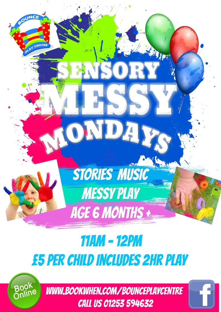 Messy Mondays at Bounce Play Centre Blackpool