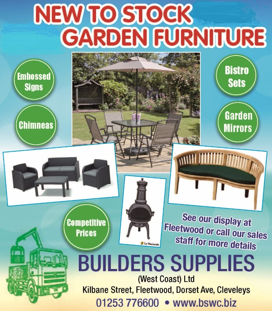 New garden furniture at Builders Supplies