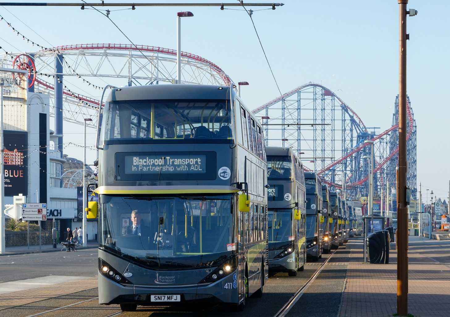 Palladium buses in Blackpool