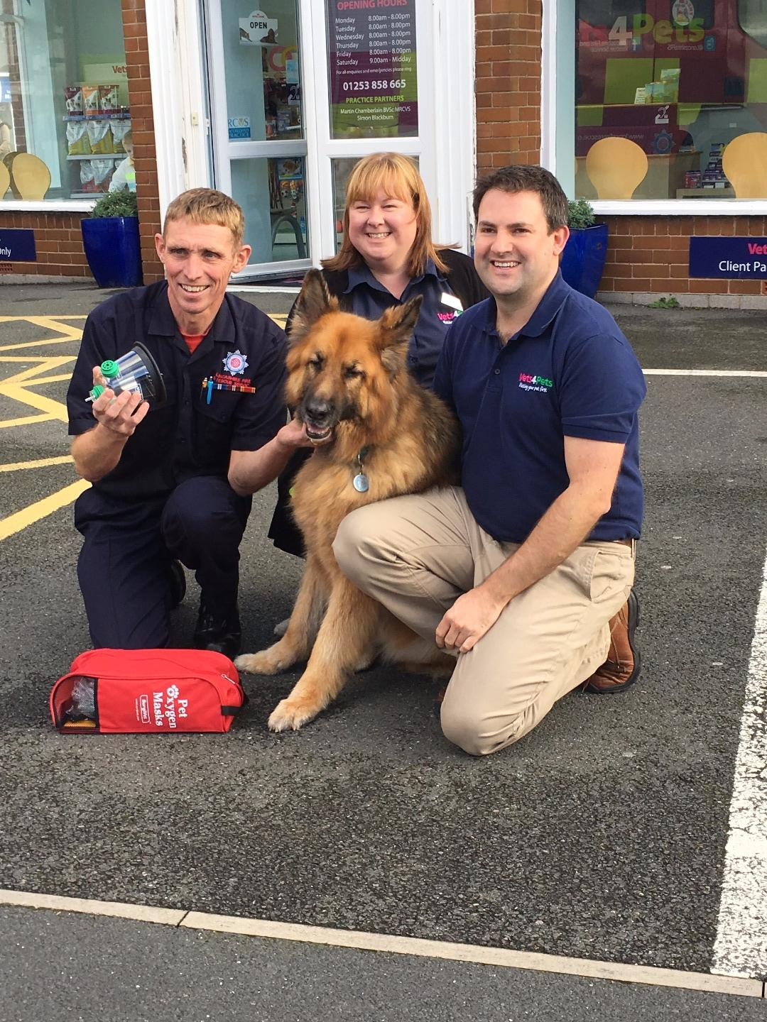 Pet resuscitation equipment donated by Vets4Pets Cleveleys