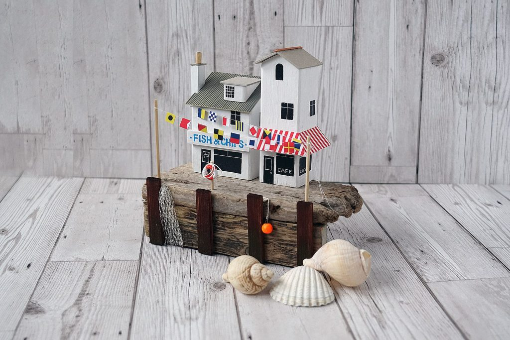 Quayside Gala, handmade driftwood artwork from Seaside Emporium