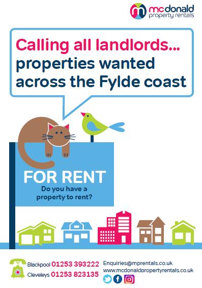Rental properties required by McDonald Property Rentals