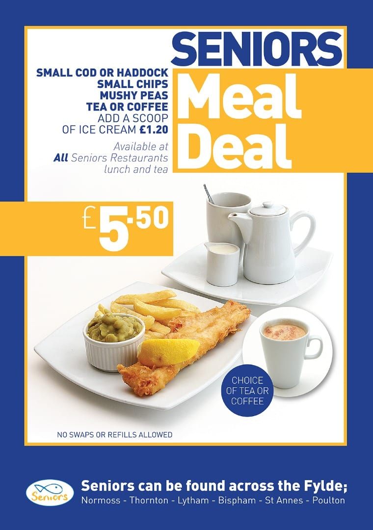 Restaurant Meal Deal at Seniors Fish and Chips, Seniors Lytham and St Annes