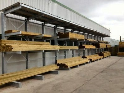 Timber storage at Builders Supplies