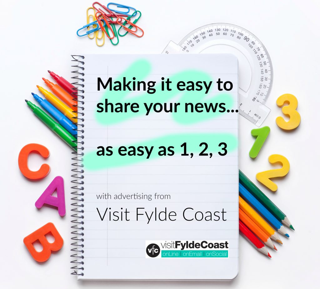 Our news: Making it easy to include your news on Visit Fylde Coast