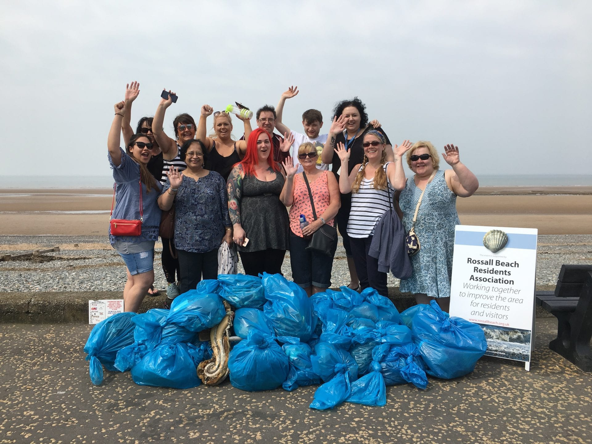 Beach clean day and what a glorious day for it