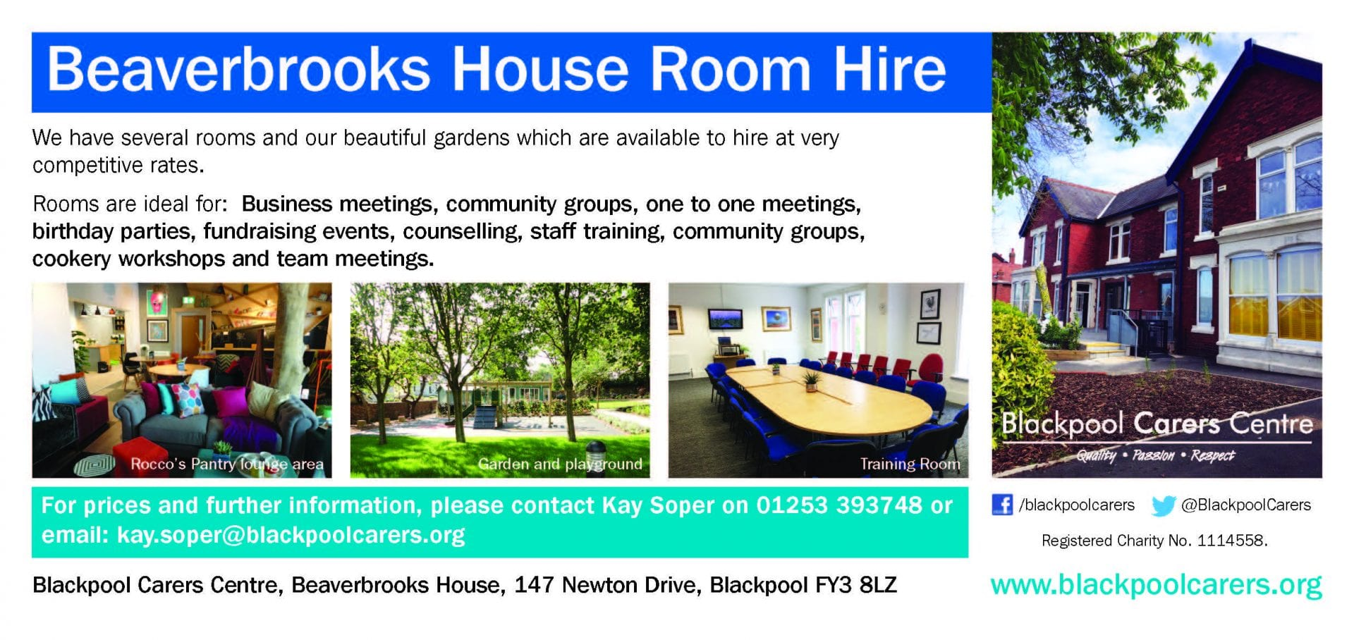 Room hire at Blackpool Carers Centre