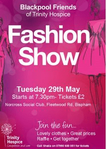 Fashion Show with Blackpool friends of Trinity Hospice