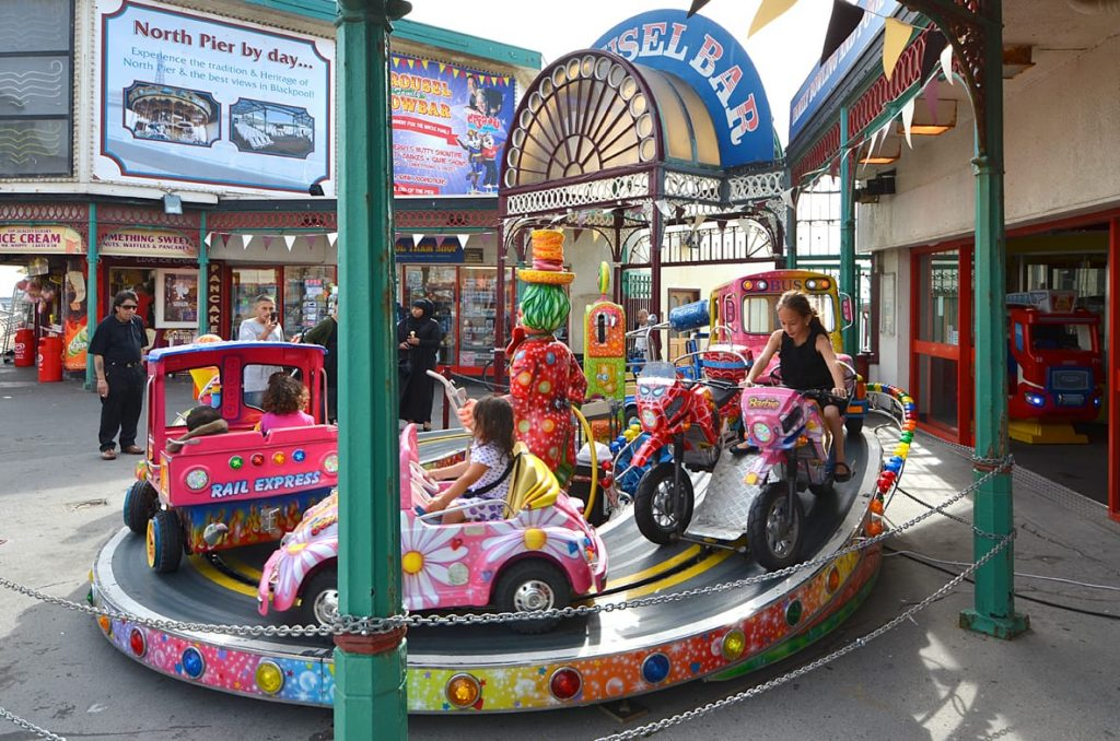 Children's Rides at the entrance to North Pier