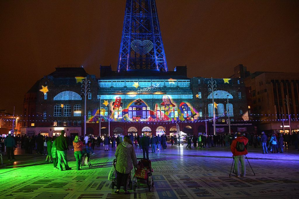 LightPool Festival at Blackpool Illuminations. Part of our A-Z of Fylde Coast places