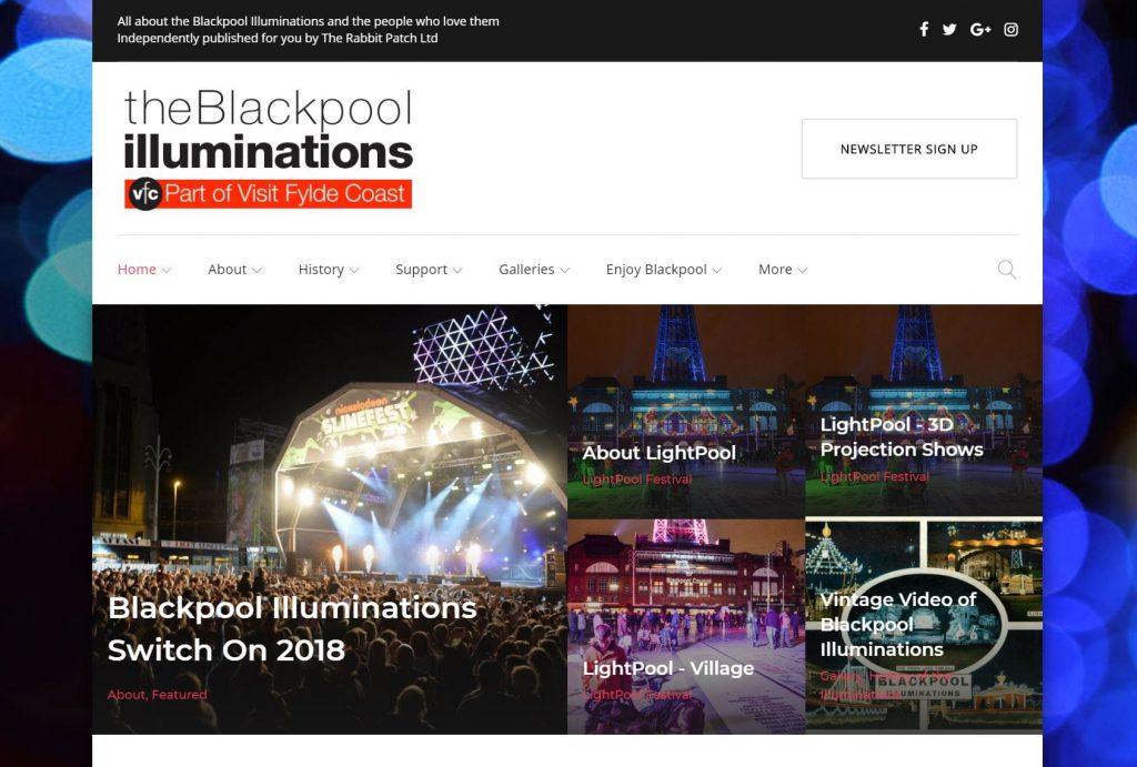 theBlackpoolilluminations.info website, LightPool Festival