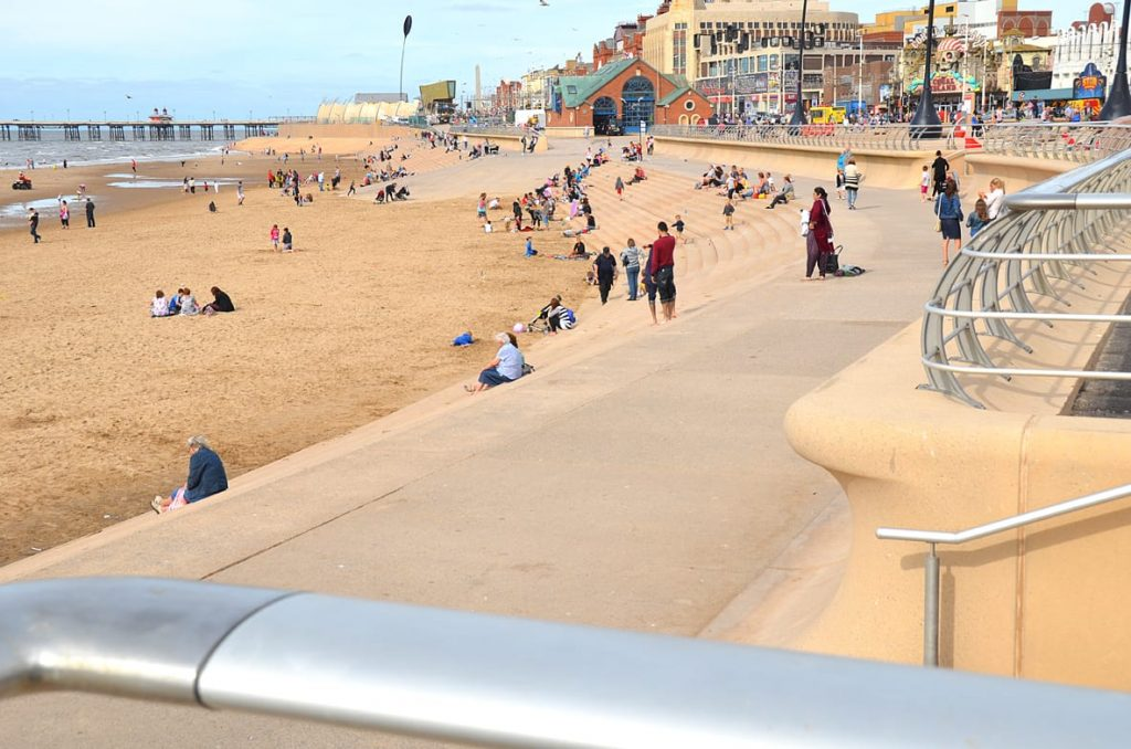 Blackpool promenade and beach. Fylde Coast town centres