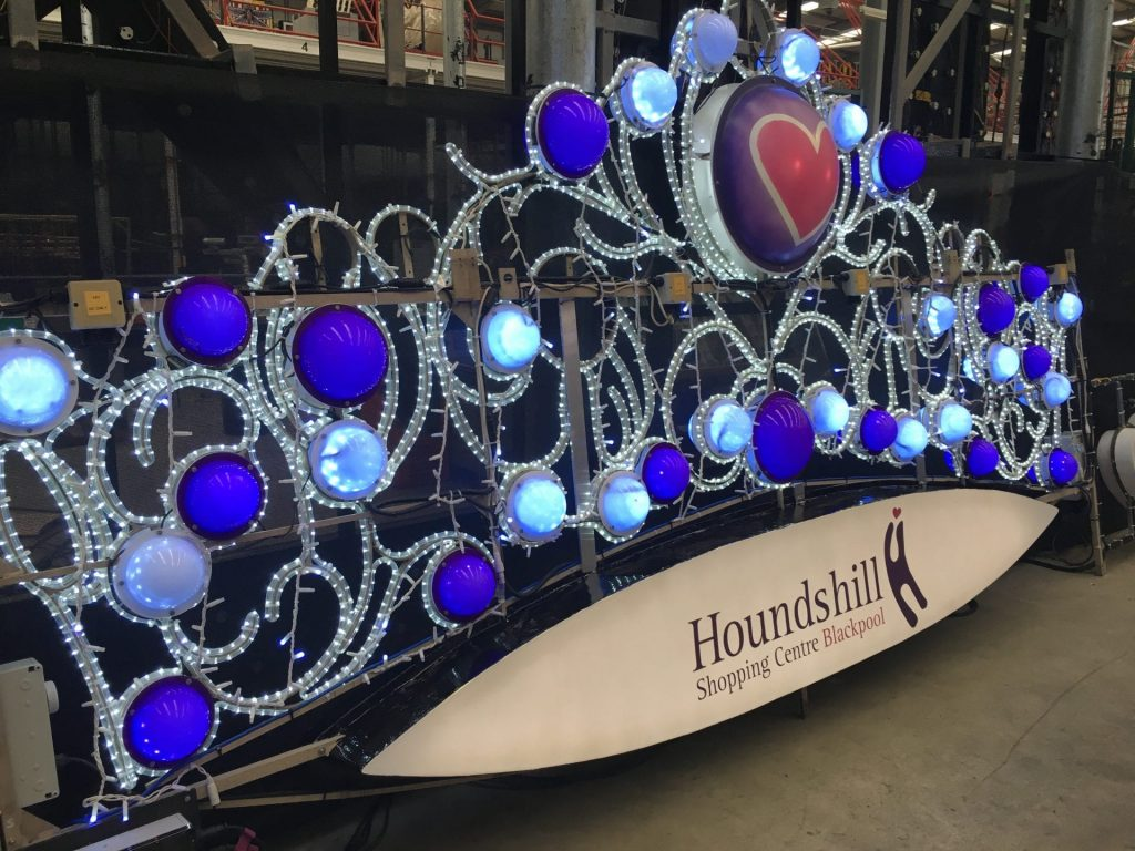 Houndshill Shopping Centre Illuminations at Lightworks before installation