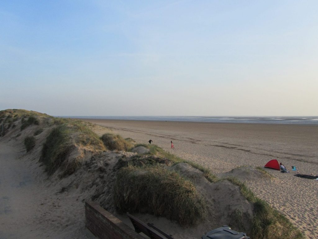 At St Annes the Fylde Coast beaches are met by sand dunes.